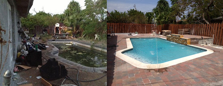 Swimming Pool Before & After 4